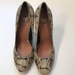 Shoes - Vince Camino Snake Skin Heels